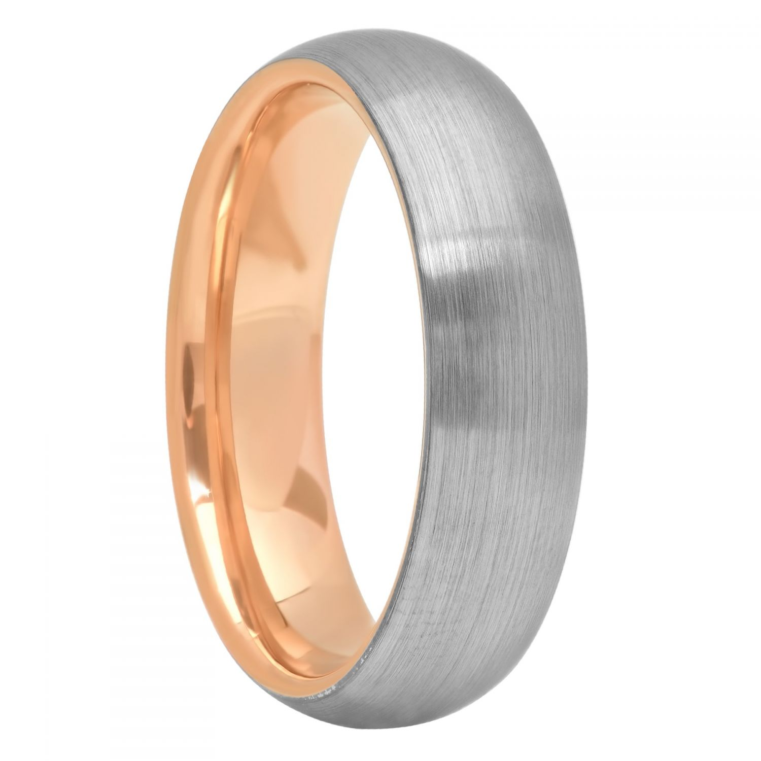 Tantalum Matte Gunmetal And Rose Inside Band, 7mm