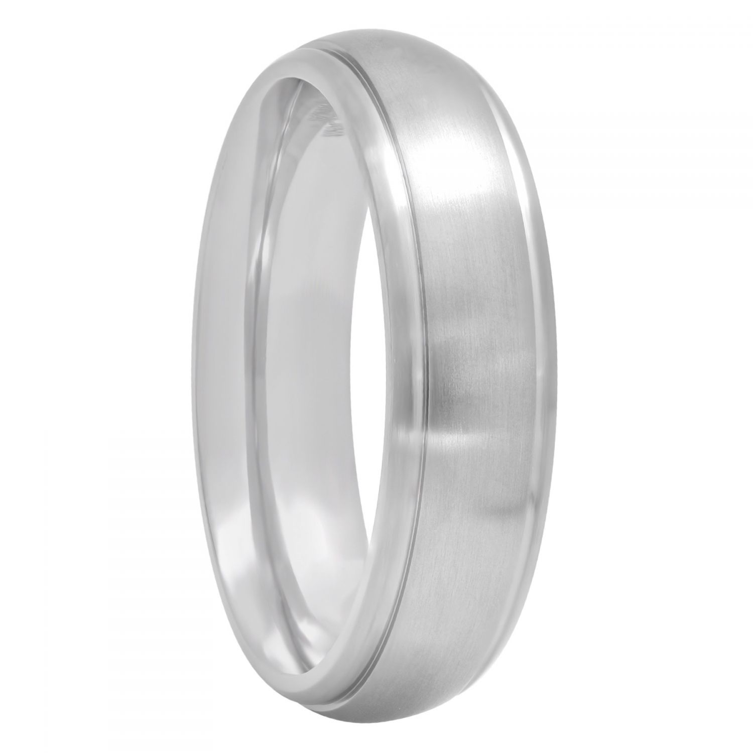 Titanium Polished Satin Band, 6mm