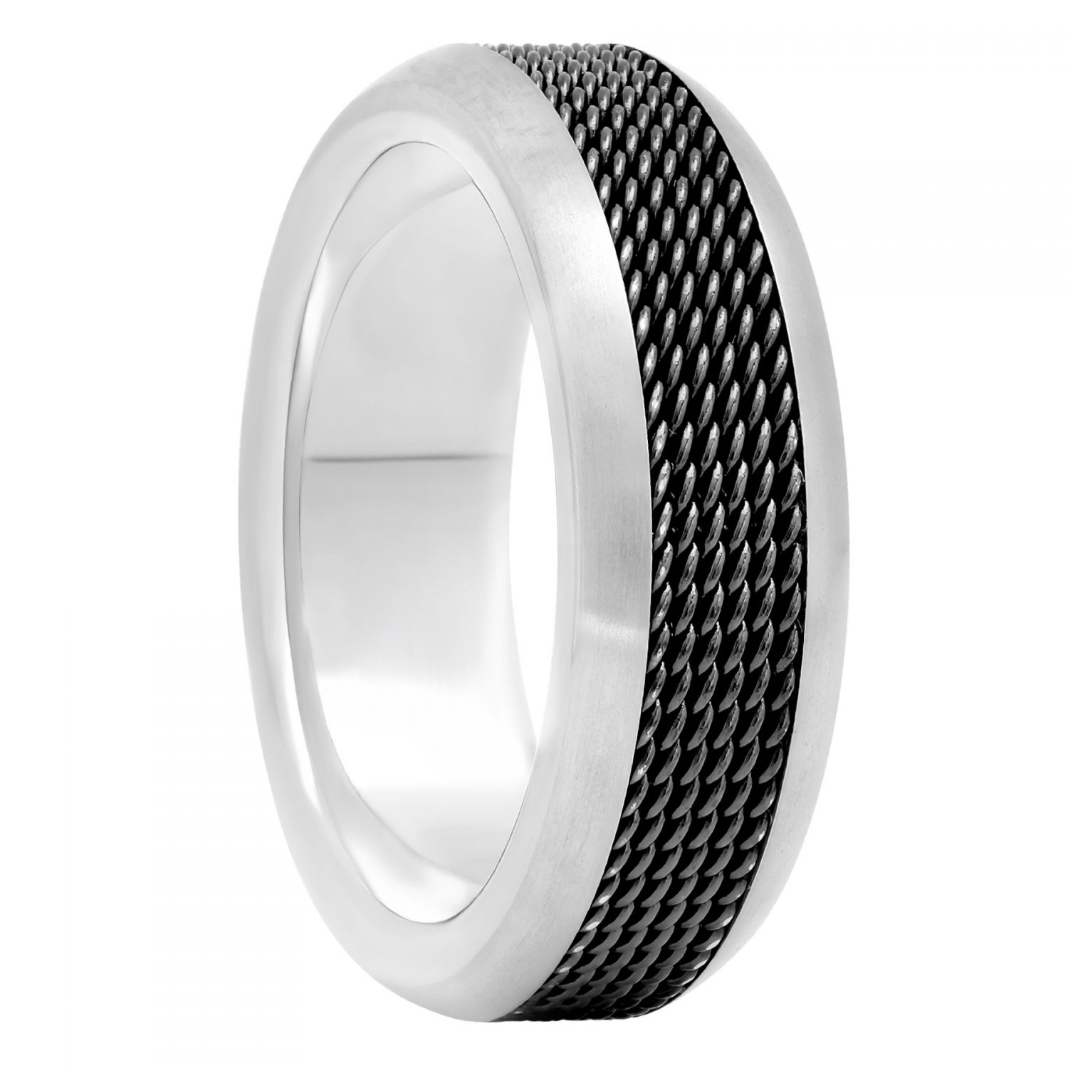Titanium Black Mesh Center Band, 8mm