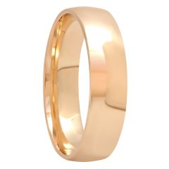 14KT Yellow Gold High Polished Band, 6mm