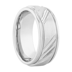 Cobalt Center Slash Design Band, 9MM