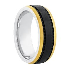 Cobalt Two-Tone Black & Yellow Band, 8MM