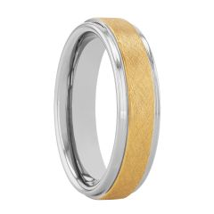 Tantalum Yellow Frozen Center Band, 6MM