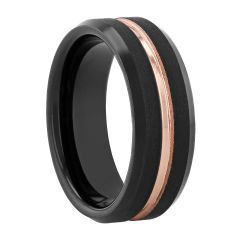Tantalum Two-Tone Black/Rose Matte Band, 8MM