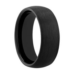 Tantalum Black Brushed Finish Band, 8MM