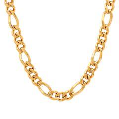 Stainless Steel Yellow Figaro Chain