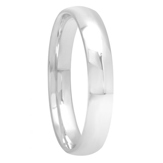 Sterling Silver High Polished Band, 4mm
