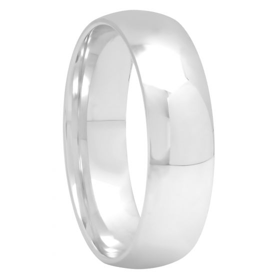 Sterling Silver High Polished Band, 6mm