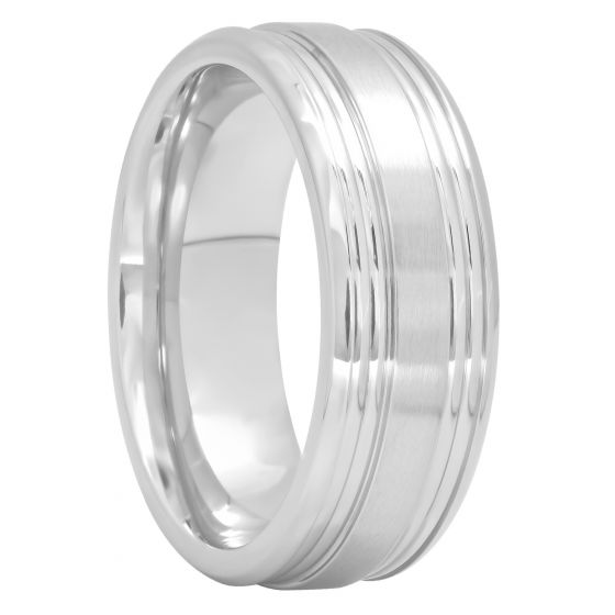 Cobalt Band With Satin Finish Center, 8mm