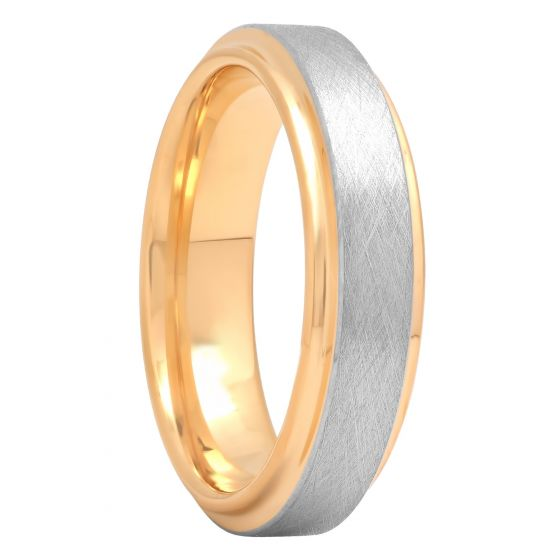 Cobalt Two-Tone Scratch Finish Satin Band, 6mm