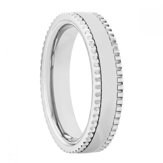 Tantalum Milgrain Band, 5MM