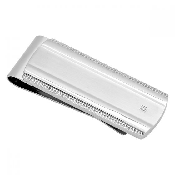Stainless Steel Zipper Edge Money Clip