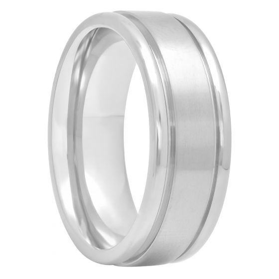 Titanium Satin Finish Center Band, 8mm